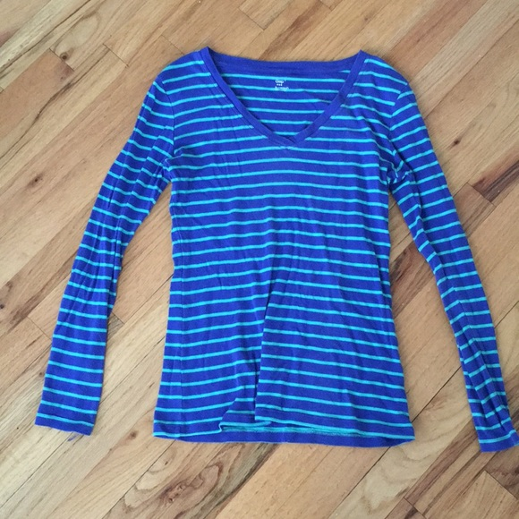 GAP Tops - Blue and Teal striped Long Sleeved Tee